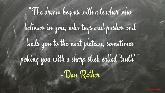 dan rather quote on teaching