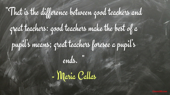 maria callas quote on teaching
