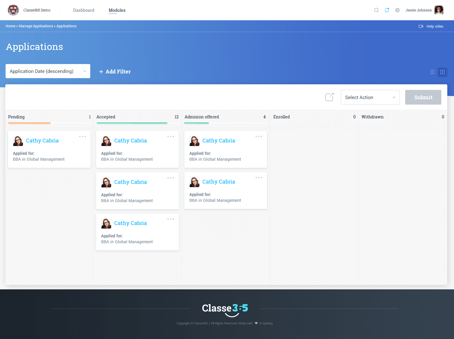 Classe365 Applications Module